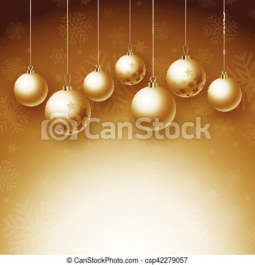 Christmas baubles background - csp42279057