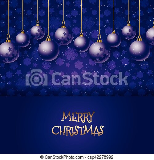 Christmas baubles background - csp42278992
