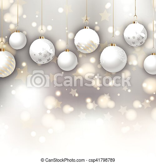 Christmas baubles background - csp41798789