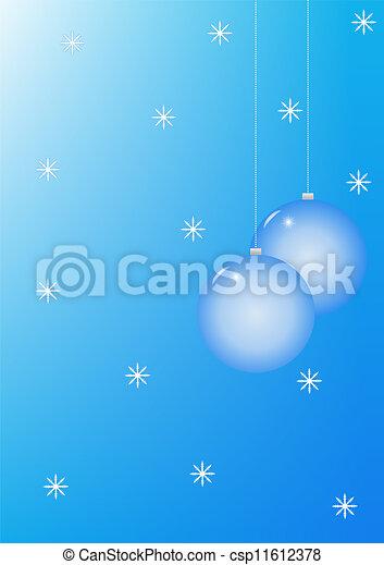 Christmas baubles blue - csp11612378