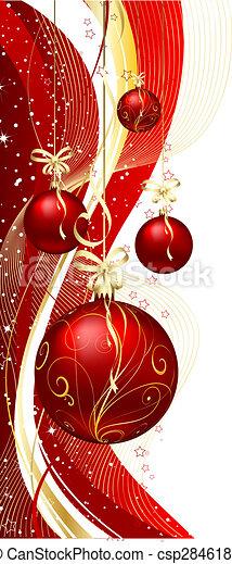 christmas baubles  - csp2846189