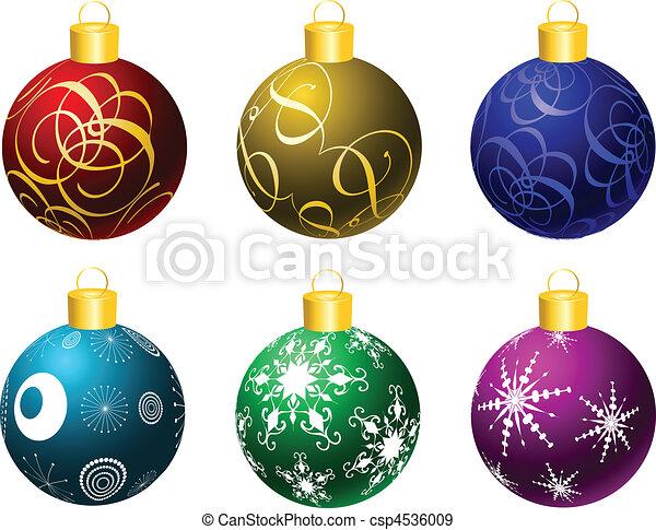 Christmas baubles - csp4536009