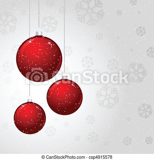 Christmas baubles - csp4915578