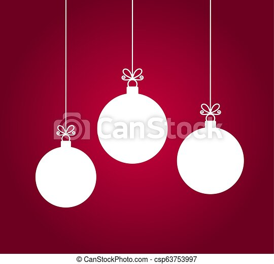 Christmas Ornaments Vector.Christmas Baubles Hanging Ornaments