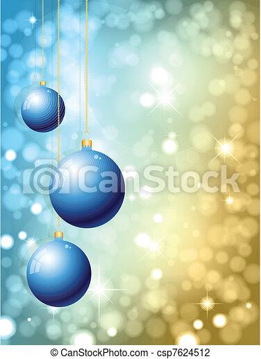 christmas baubles - csp7624512