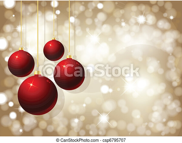 Christmas baubles - csp6795707