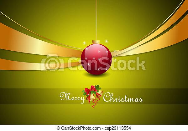 Christmas baubles - csp23113554