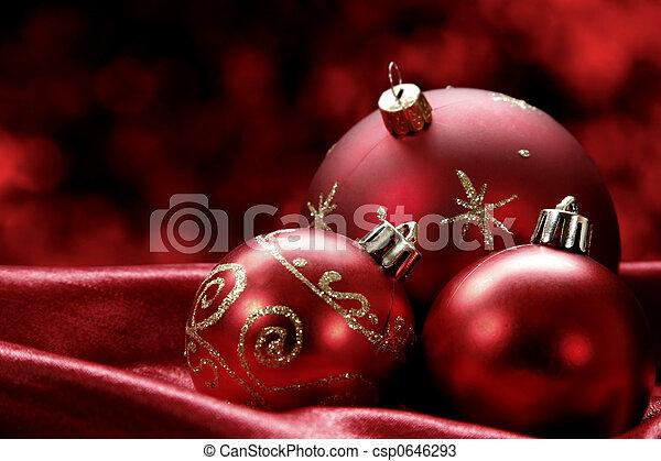 Christmas Baubles - csp0646293