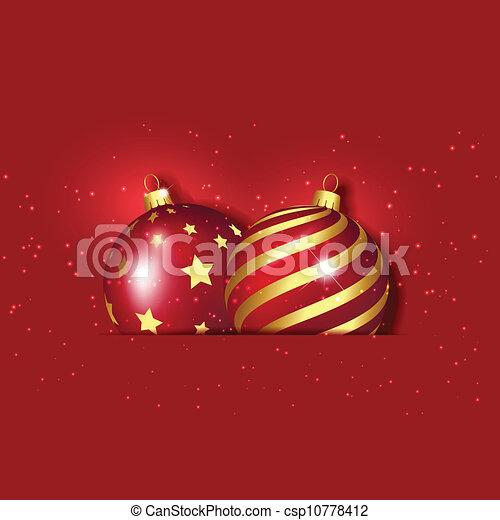 Christmas baubles - csp10778412