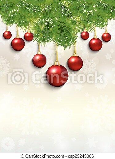 Christmas baubles - csp23243006