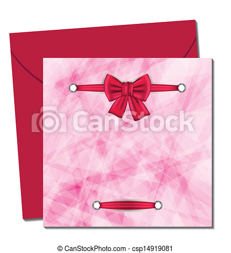 Christmas beautiful card with gift bow - csp14919081