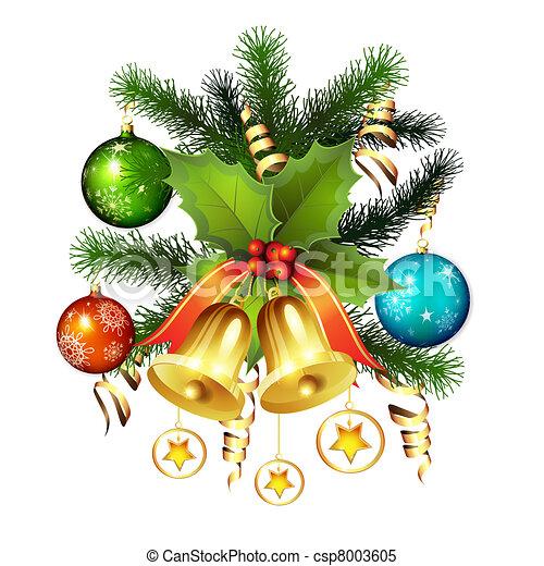 Christmas bells - csp8003605