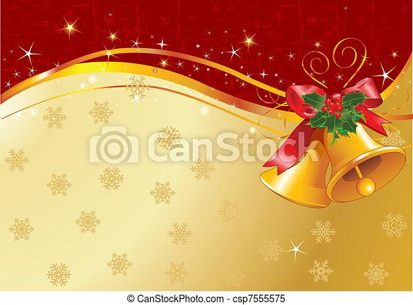 Christmas bells design - csp7555575