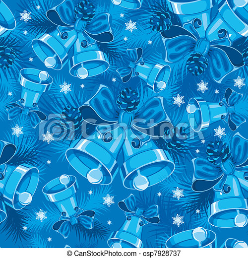 Christmas bells seamless pattern - csp7928737