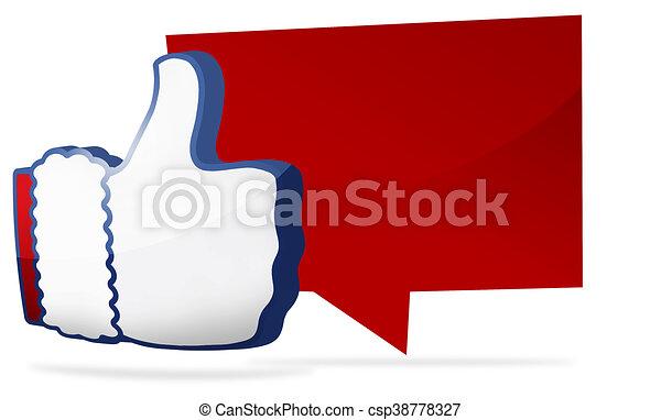 christmas big thumb like icon 3D render - csp38778327