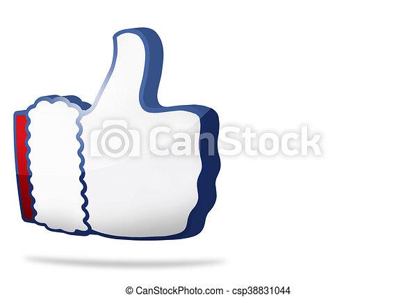 christmas big thumb like icon 3D render - csp38831044