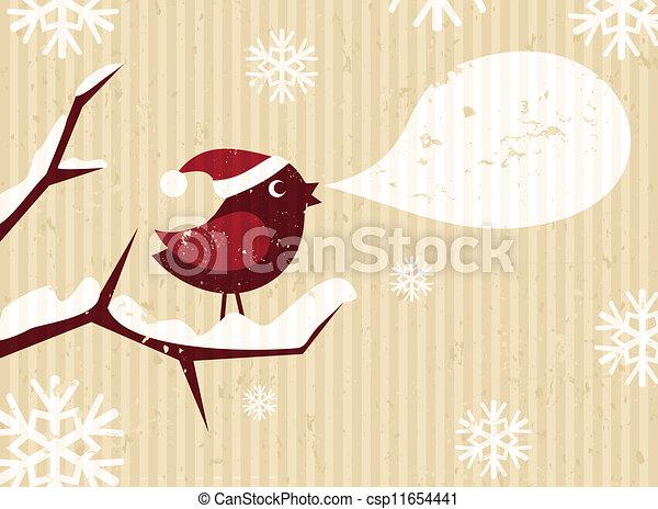Christmas Bird - csp11654441