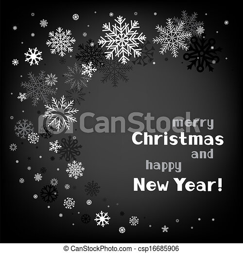 christmas black swirl background - csp16685906