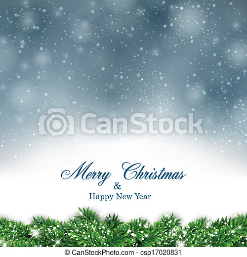 Christmas blue abstract background. - csp17020831