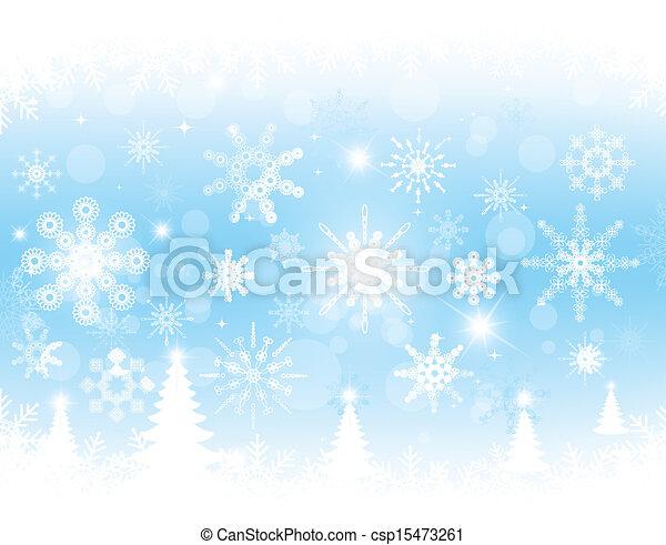Christmas blue background - csp15473261