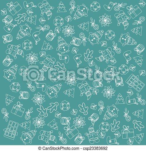 Christmas blue background - csp23383692