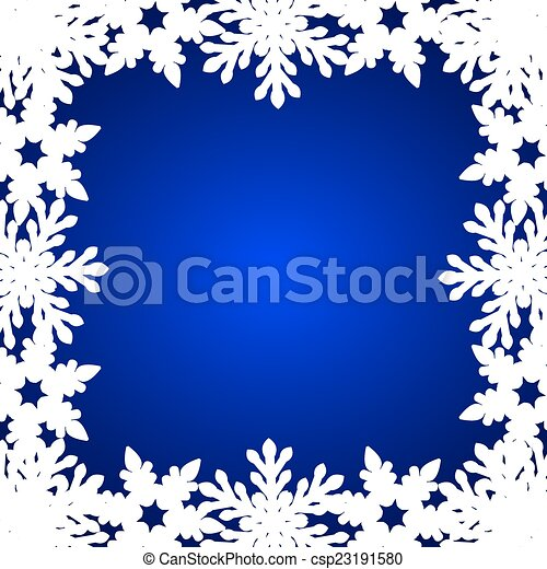 Christmas blue background - csp23191580
