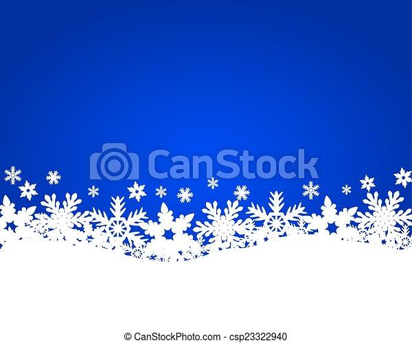 Christmas blue background - csp23322940