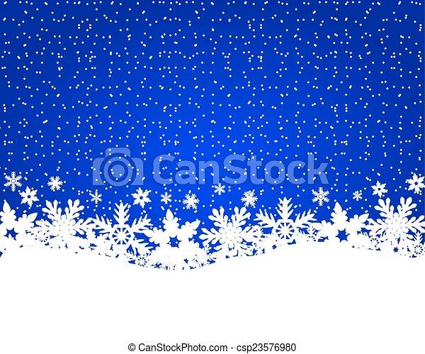 Christmas blue background - csp23576980
