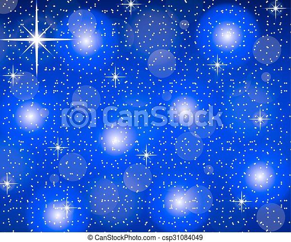 Christmas blue background - csp31084049