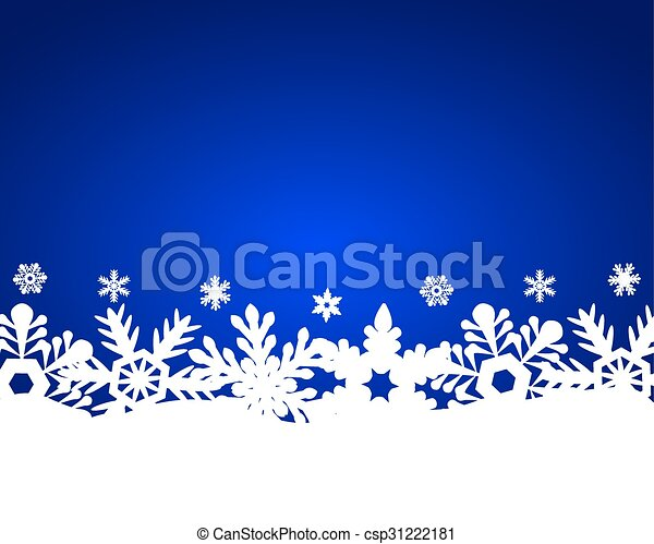 Christmas blue background - csp31222181