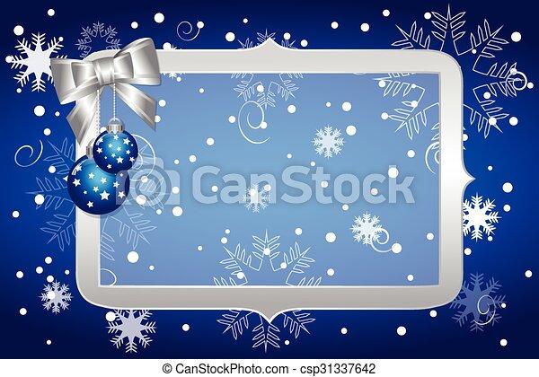 Christmas blue background - csp31337642