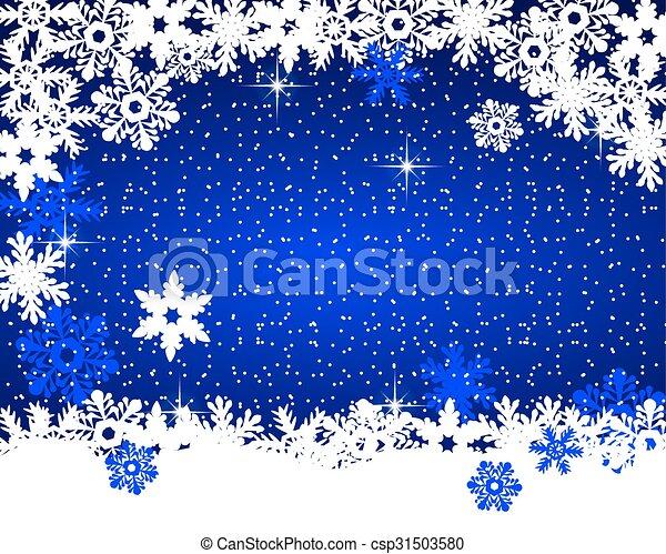 Christmas blue background - csp31503580