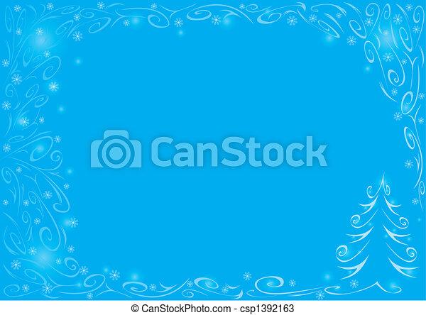 Christmas blue background - csp1392163