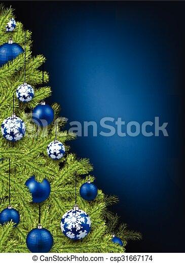 Christmas blue background. - csp31667174