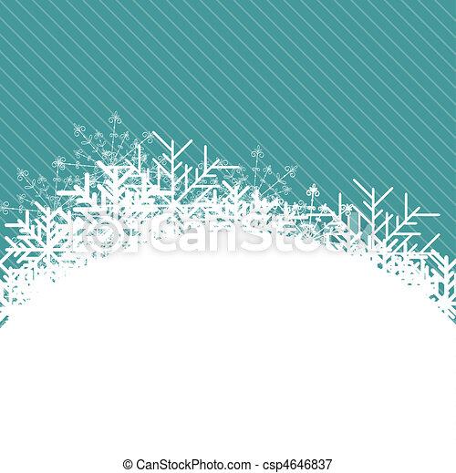 Christmas blue Background - csp4646837