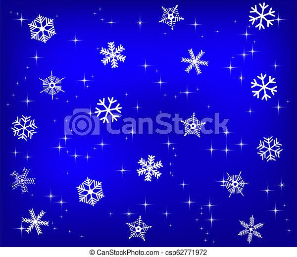 Christmas blue background - csp62771972