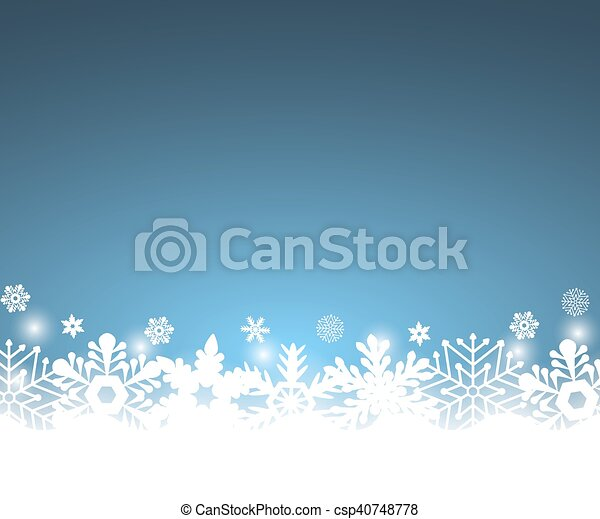 Christmas blue background, with snowflakes - csp40748778