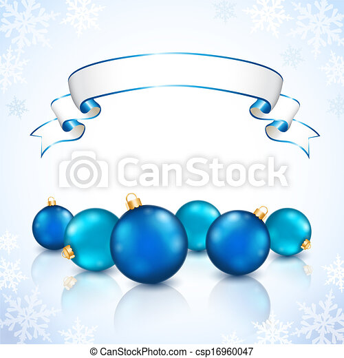 Christmas blue balls - csp16960047