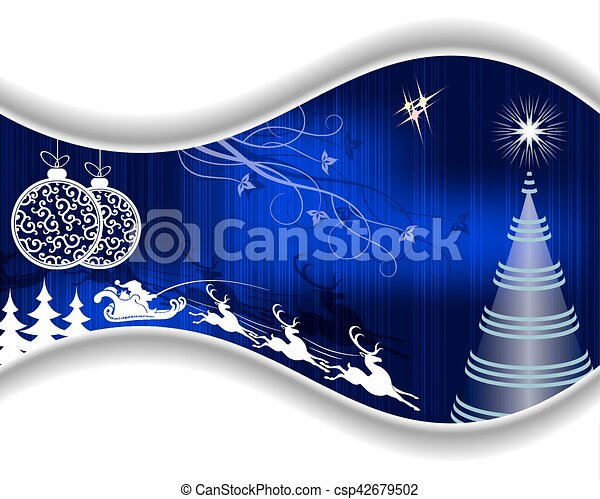 Christmas blue design - csp42679502
