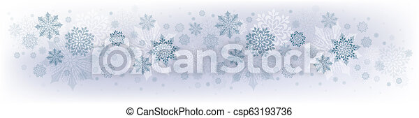Christmas blue design with lots of beautiful snowflakes. - csp63193736