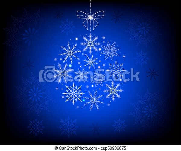 Christmas blue design with snowflakes - csp50906875