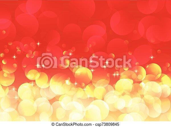 Christmas bokeh lights background - csp73809845