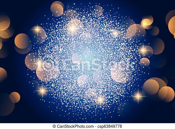 Christmas bokeh lights background - csp63849778