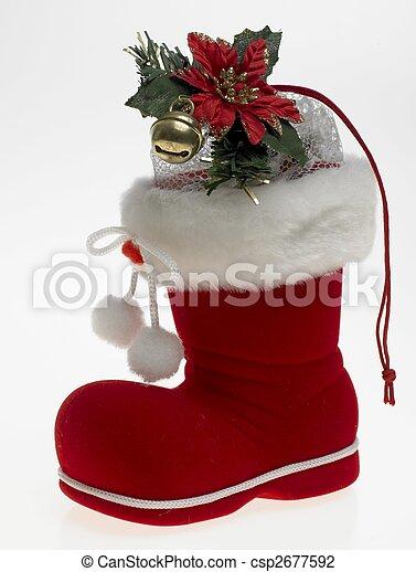 Christmas boot - csp2677592
