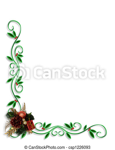 Christmas Border Corner design - csp1226093