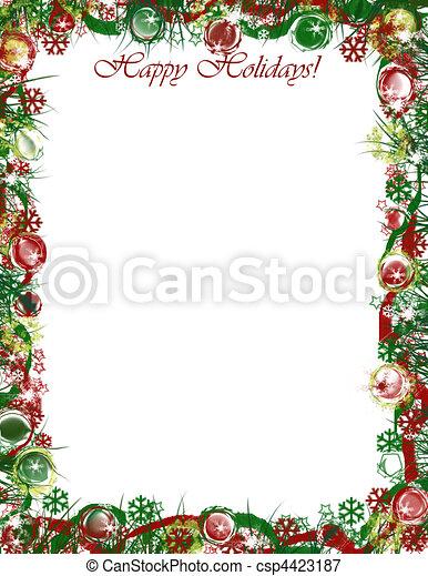 Christmas Letter Border.Christmas Border Happy Holidays