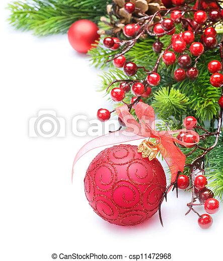 Christmas border over white - csp11472968