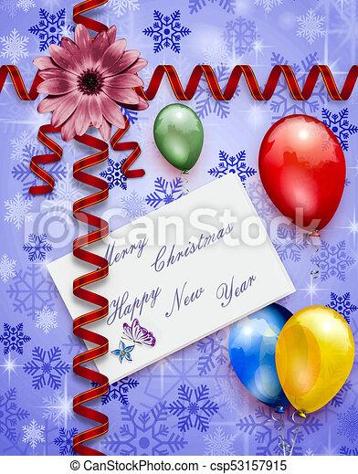 Christmas Card Border.Christmas Border Red Present
