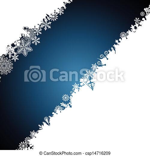 Christmas border, snowflake design background. - csp14716209