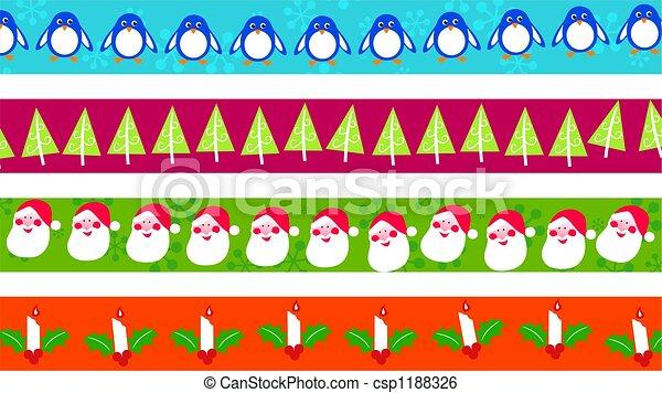 Christmas borders - csp1188326